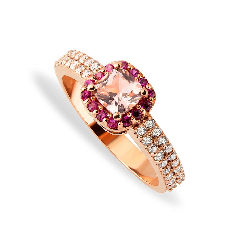 9ct Rose Gold Cz Ladies Ring Eldorado Jewellers