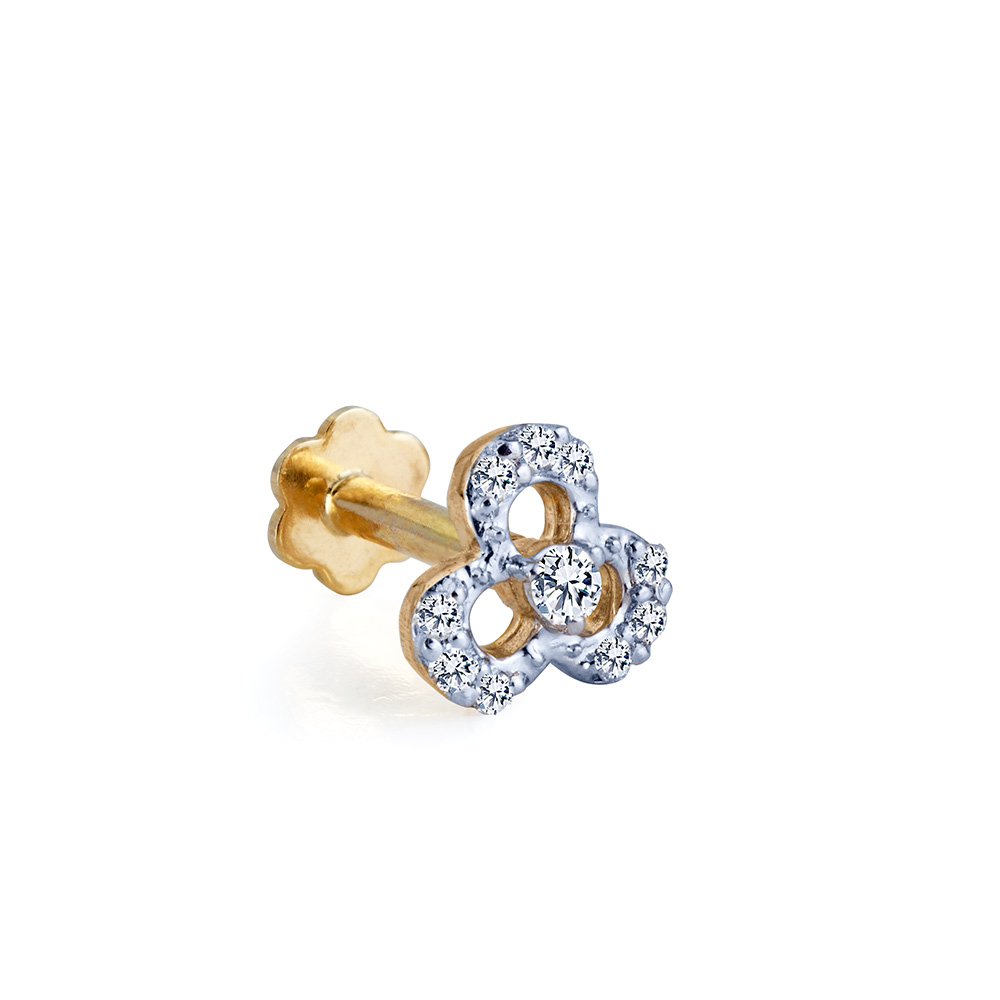 18ct Diamond Flower Nosering Eldorado Jewellers
